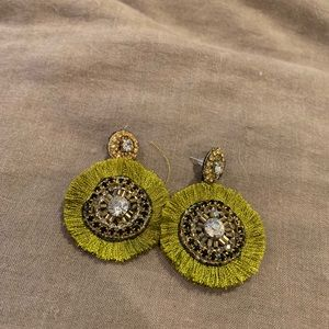Jewelry - Rhinestone and Thread Earrings!